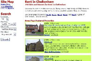 Rent in Cheltenham Website. Lettings agents and private landlords